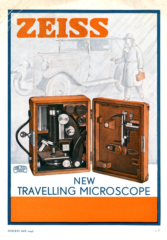 Druckschrift zum Reisemikroskop 1930